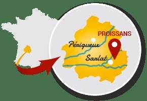 Localisation Proissans